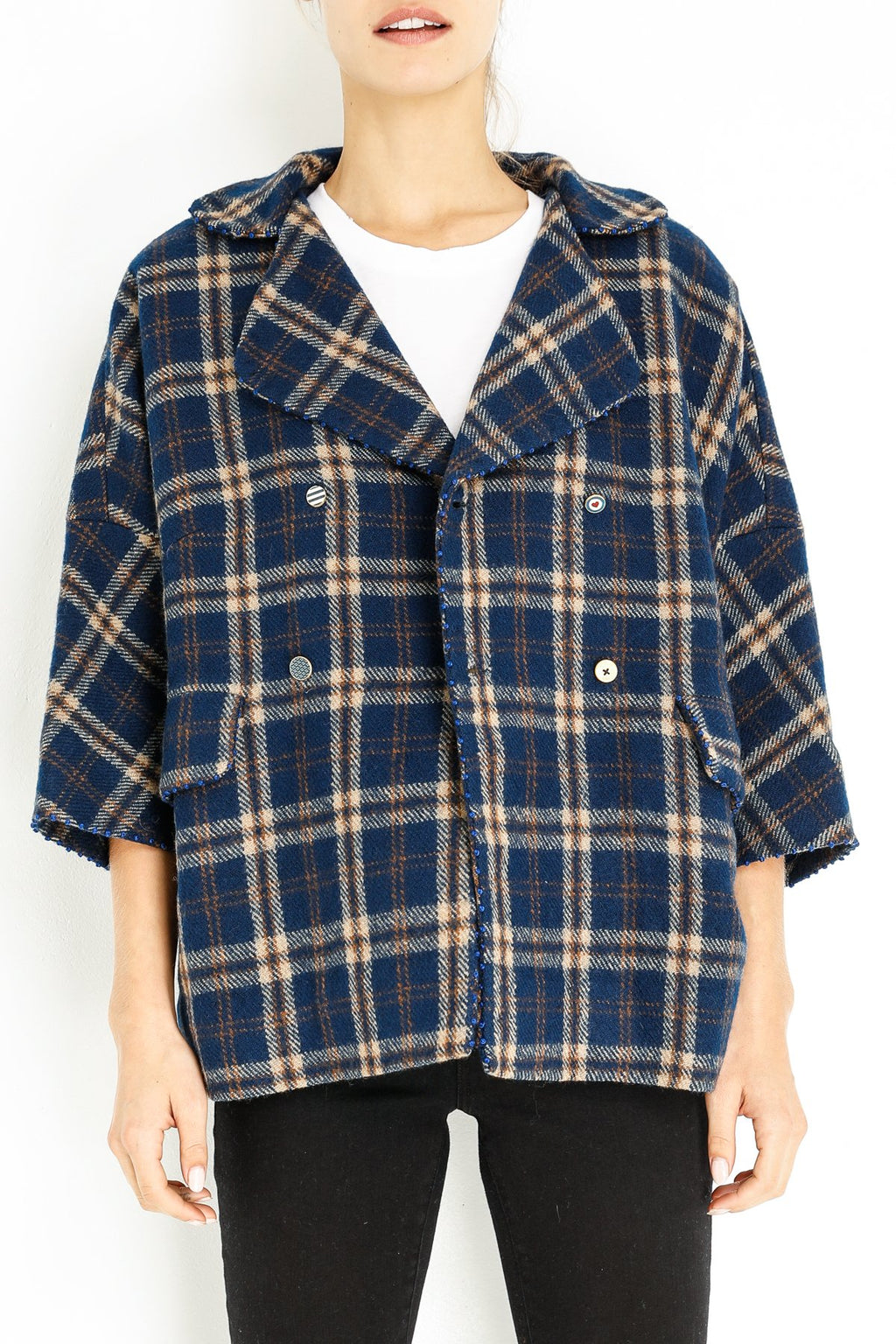 Pero plaid-jacket