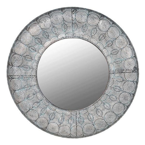 Antiqued Filigree Metal Wall Mirror - Featured in Living Etc Magazine