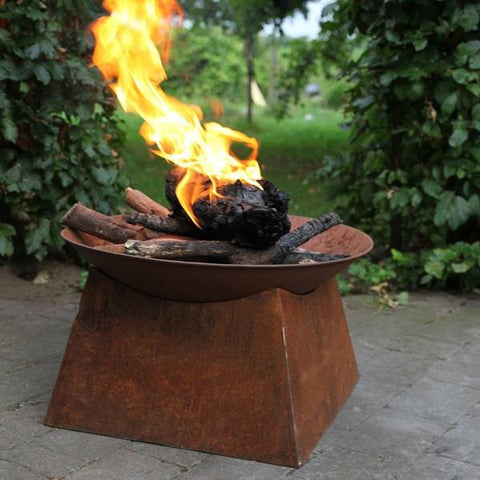 Rustic Rusty Fire Pit Brazier - Featured in Exclusive Magazine