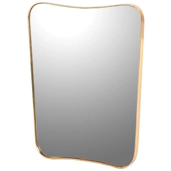 Gold Frame Rectangle Shaped Mirror