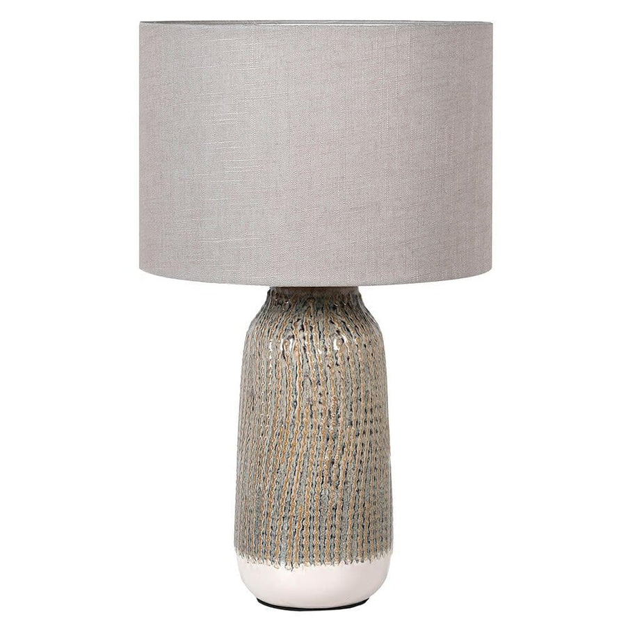 Textured Stripes Table Lamp & Shade at the Farthing