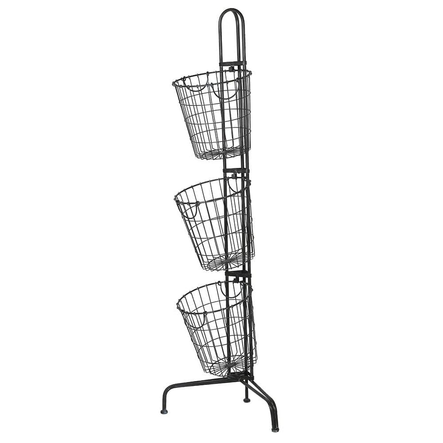 Tall Wire 3 Basket Tiered Storage