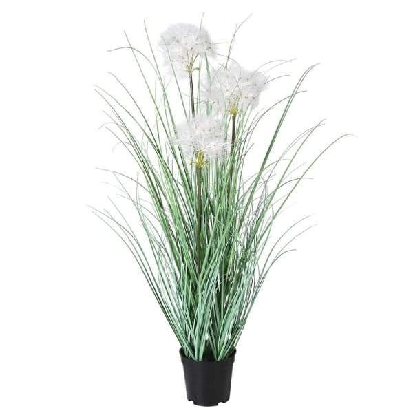 Tall Faux Onion Grass with Fluffy Seed Heads
