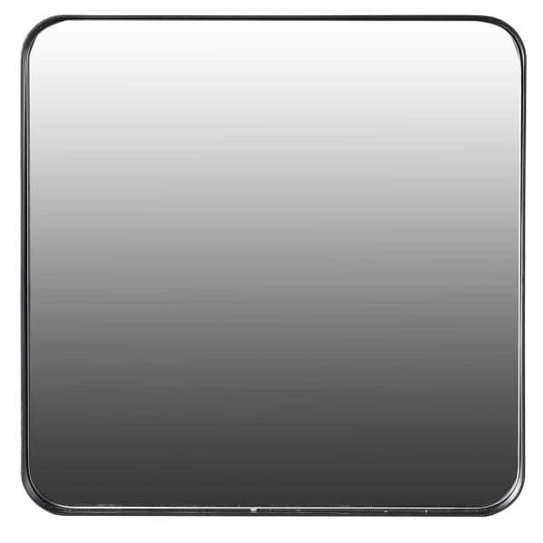Black Slim Frame Rectangle Metal Mirror - Medium