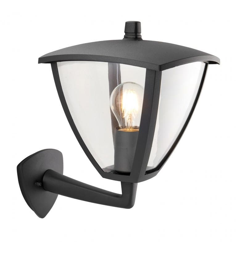 Exterior Black Alford Wall Light