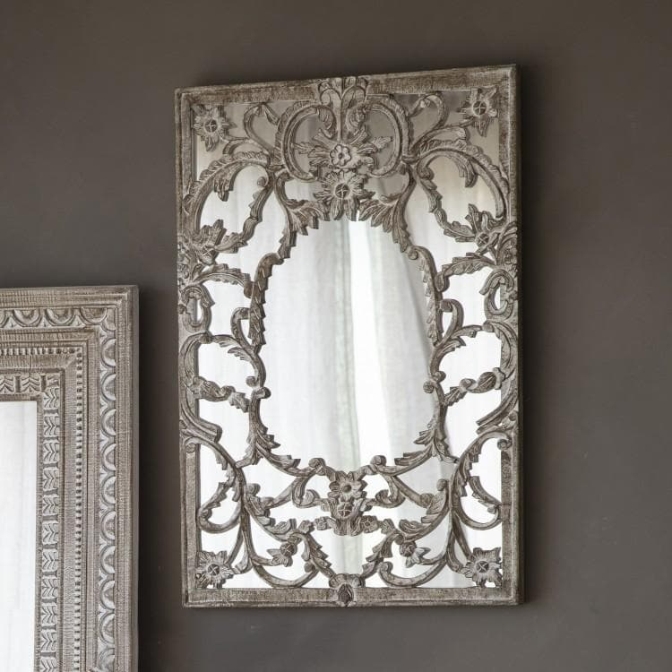 Carved Nepali Wall Mirror