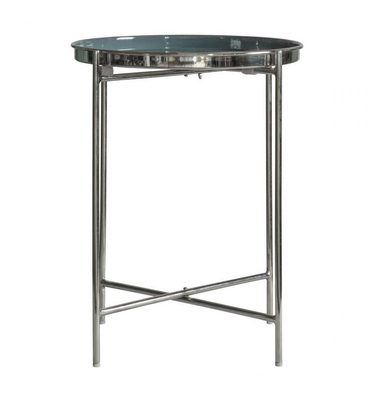 Silver & Grey Topped Round Side Table | Farthing