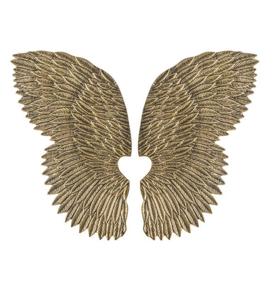 Distressed Gold Angel Wings | Farthing