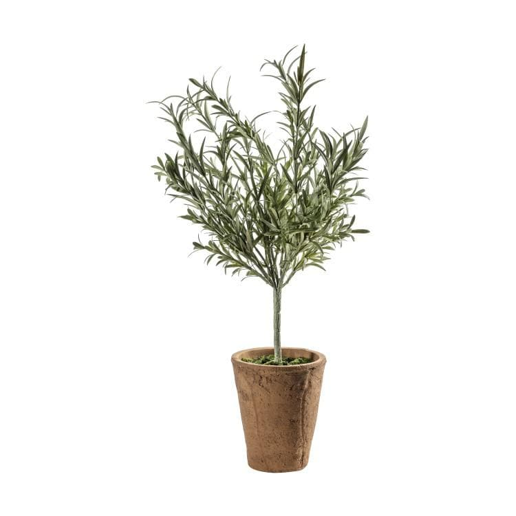 Faux Lavender Bush in Rustic Pot