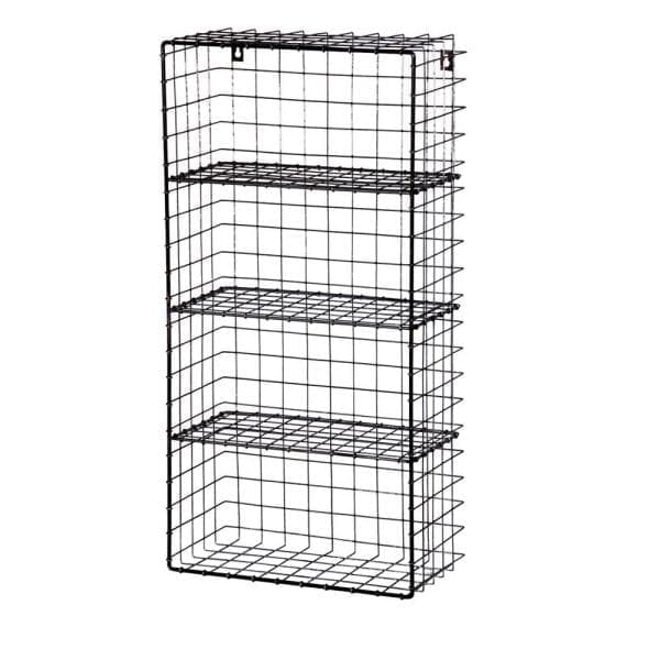 Industrial Metal Wirework Wall 4 Shelf