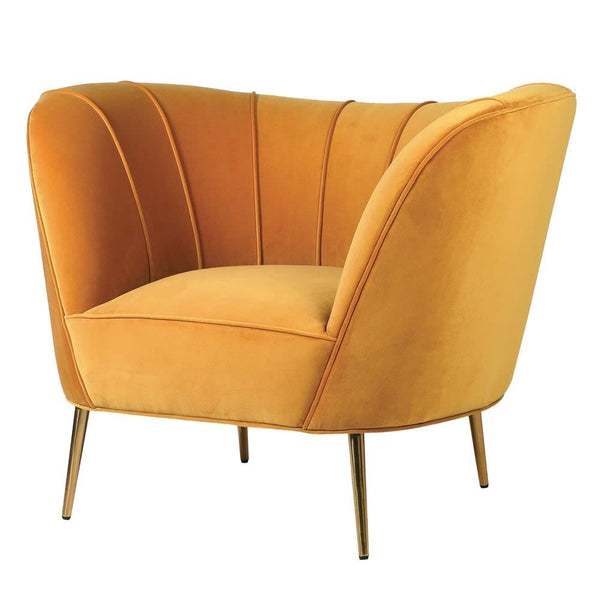 Curved Chair in Canary Yellow at the Farthing