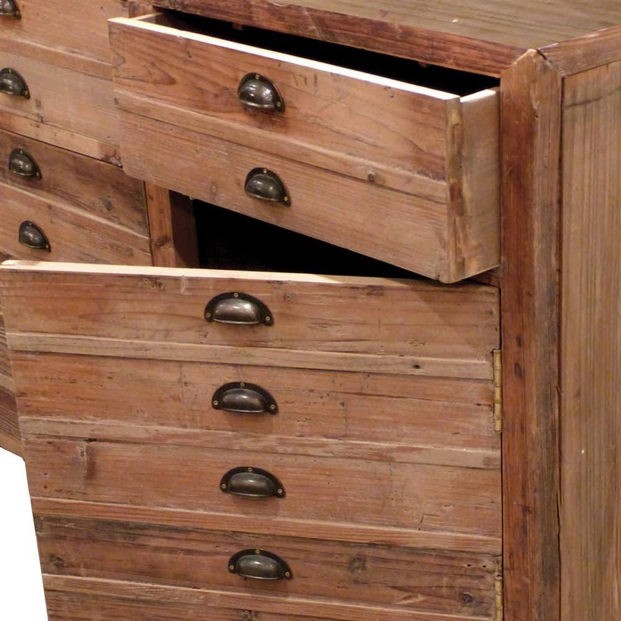 Rustic Pine Faux Drawer Cabinet at the Farthing