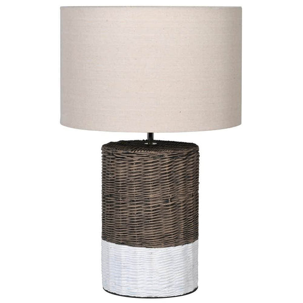 Wicker Effect Table Lamp & Shade at the Farthing
