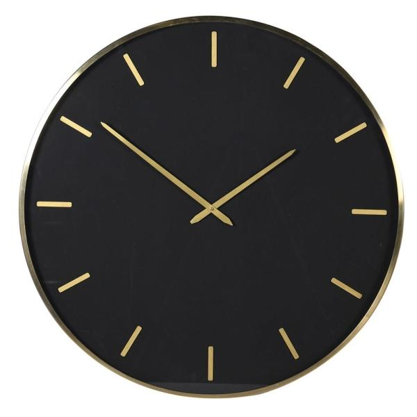 Extra Large Black and Gold Wall Clock