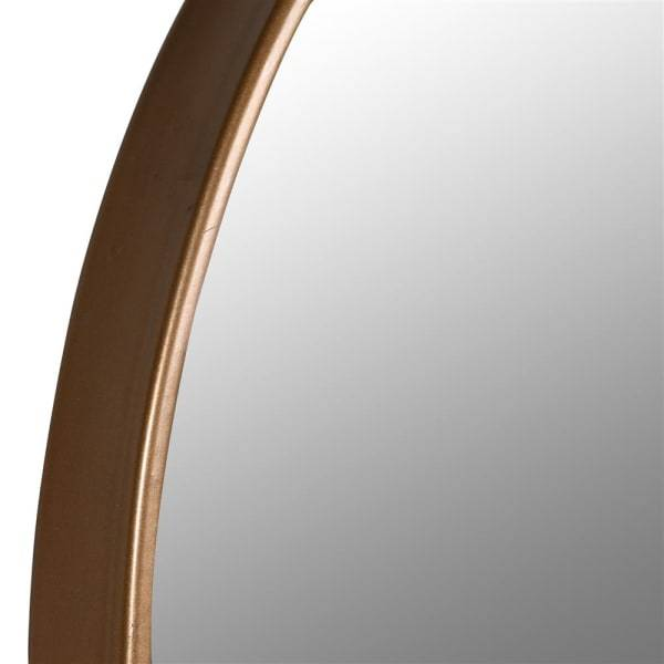 Long Slim Arched Top Gold Wall Mirror