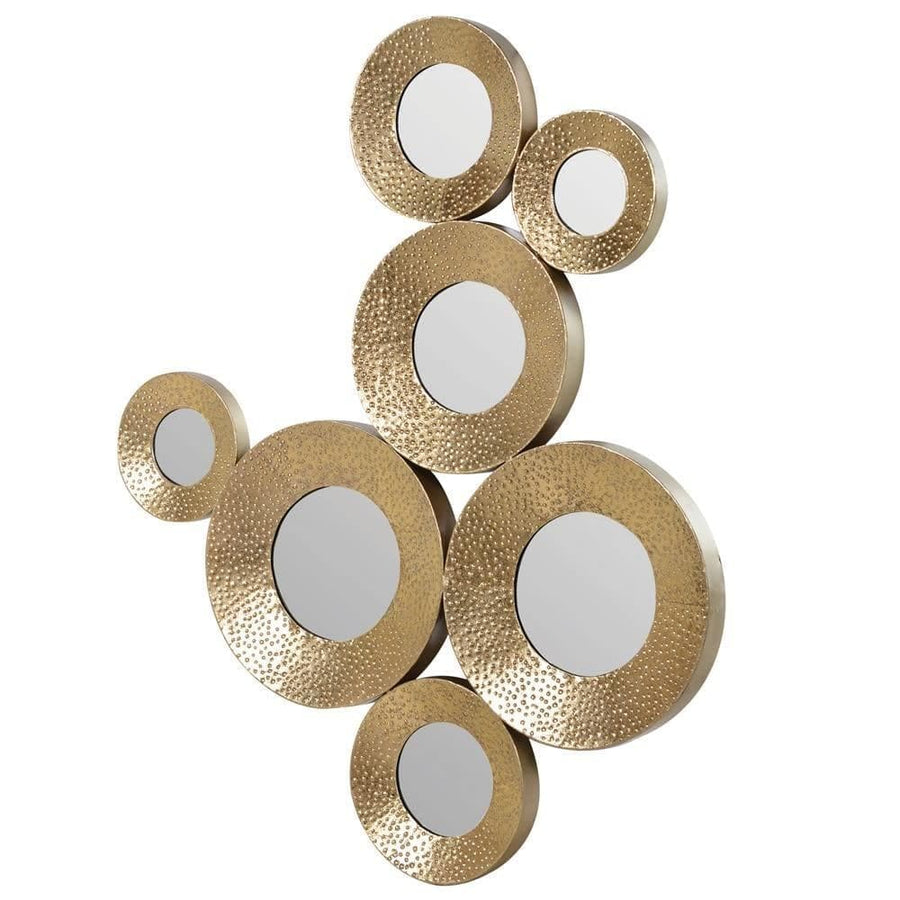 Gold Circles Decorative Wall Mirror at the Farthing