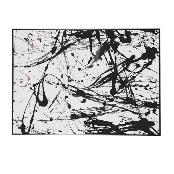 Abstract Splatter Wall Canvas at the Farthing