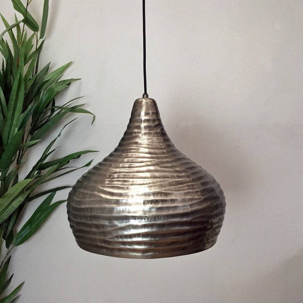 Aged Domed Metal Pendant Light - The Farthing