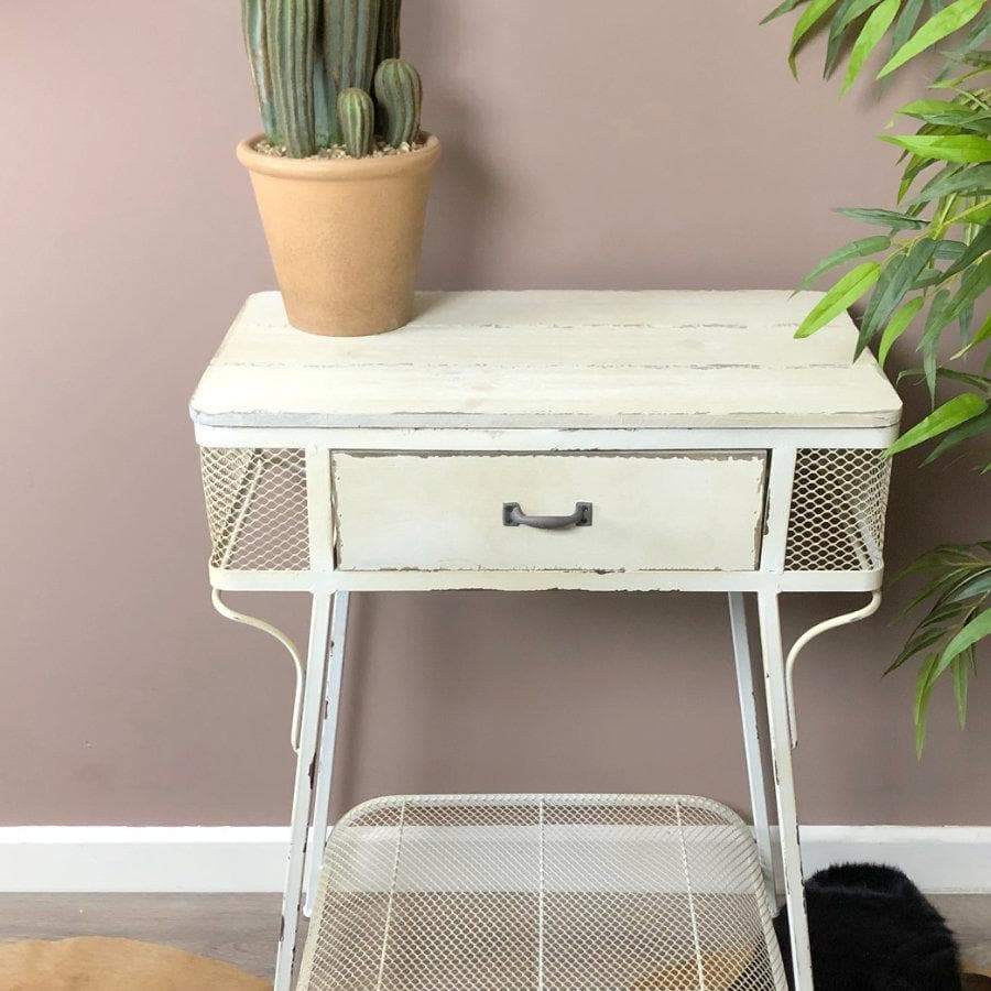 Aged Sallway Side Table at the Farthing