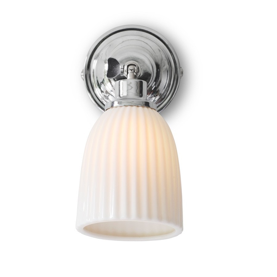 Elegant Alma Bathroom Spotlight Light with Porcelain Shade - The Farthing