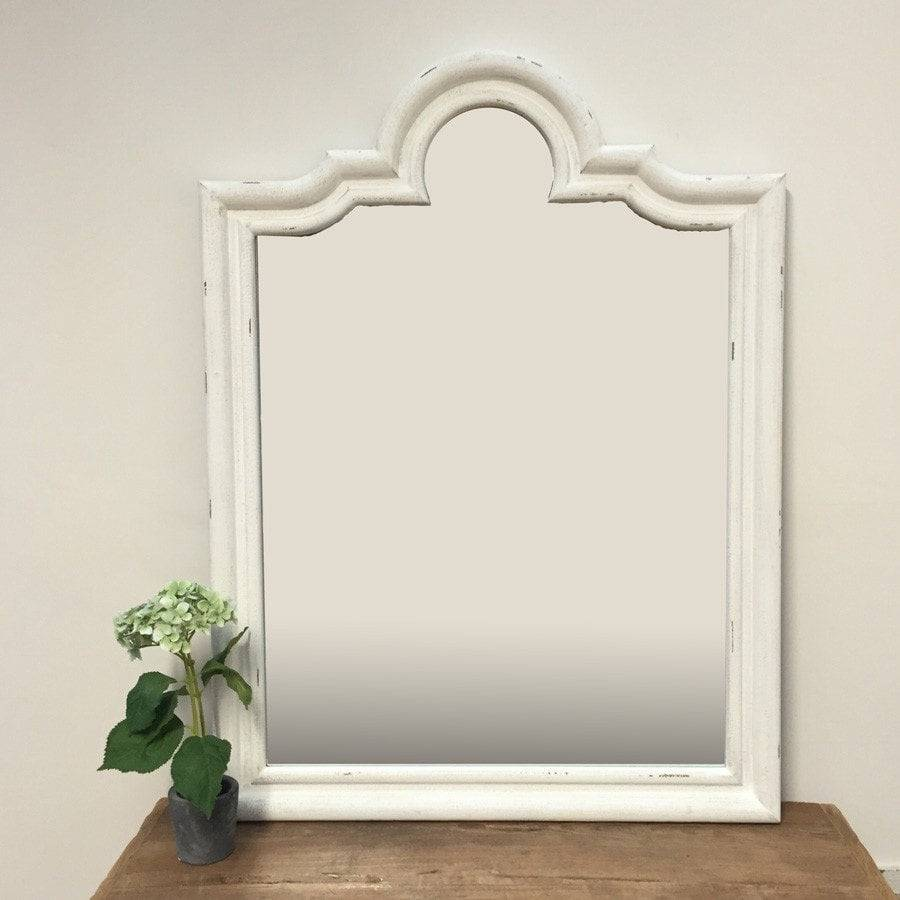 Harper mirror distressed mirror shabby chic mirrors for Antique looking wall mirrors