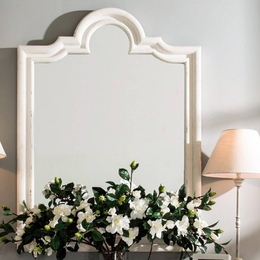 Harper mirror distressed mirror shabby chic mirrors for Antique style wall mirror