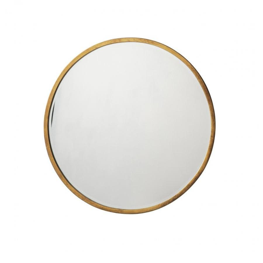 Antique Gold Round Mirror at the Farthing