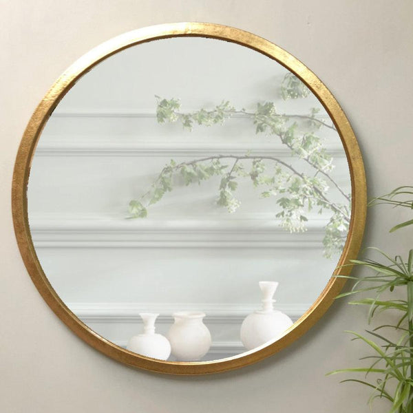 Antique Brass Round Mirror at the Farthing Homewares 3