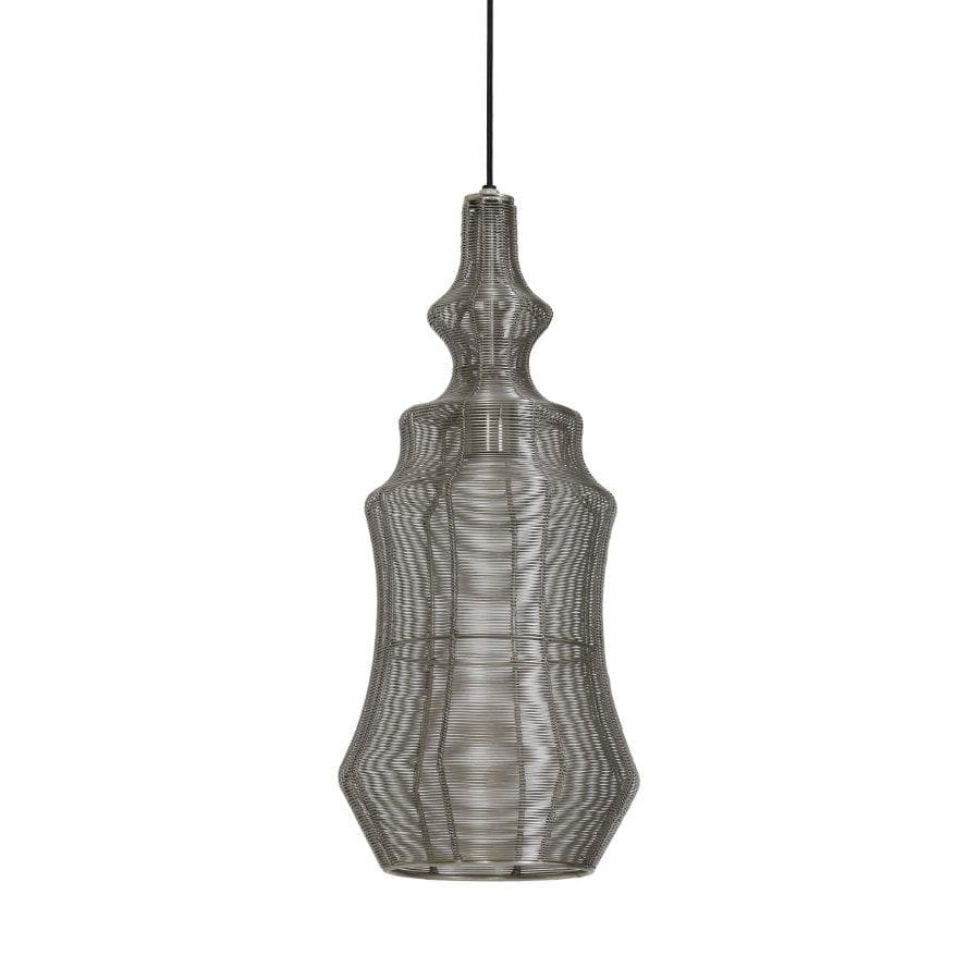 Antique Nickel Bodil Pendant Light at the Farthing
