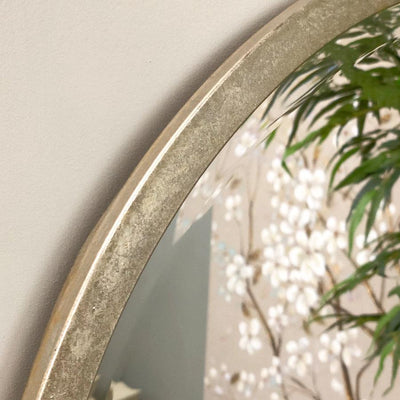 Antique Silver Round Mirror | The Farthing 4