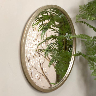 Antique Silver Round Mirror | The Farthing 3