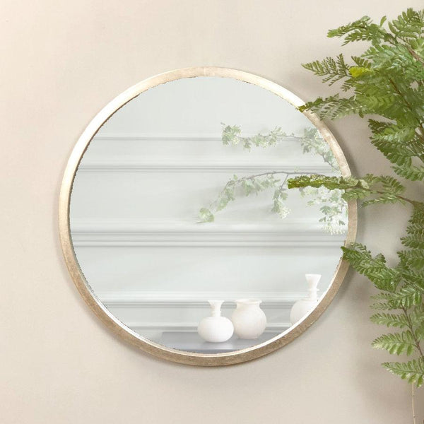 Antique Silver Round Mirror | The Farthing 2