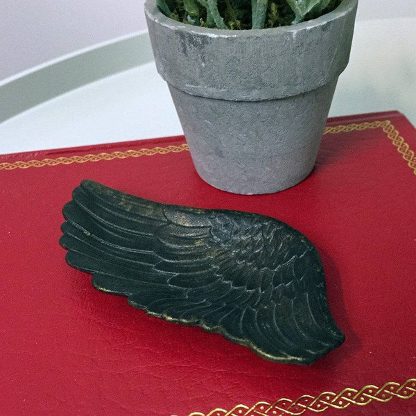 Antiqued Angel Wing Dish - The Farthing