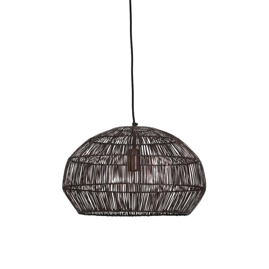 Antiqued Copper Wire Pendant Light | The Farthing