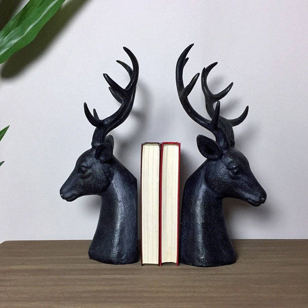 Antiqued Stag Bookends - The Farthing