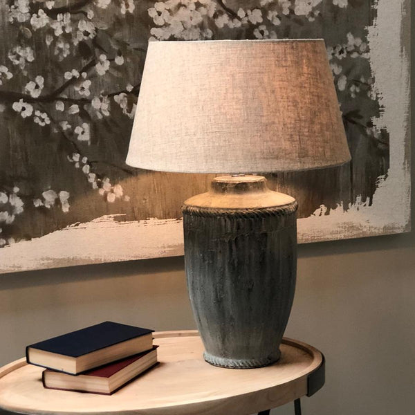 Antiqued Windsor Table Lamp & Shade | Farthing  4