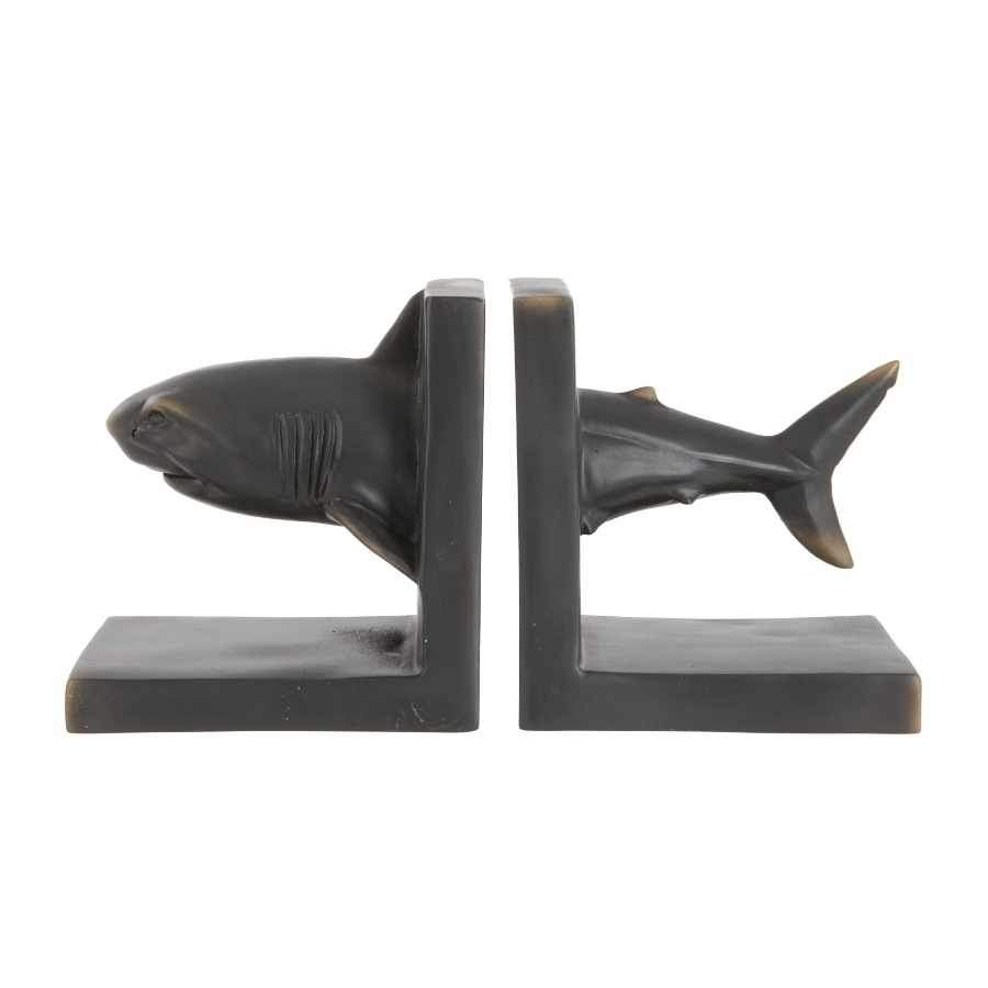 Antiqued Shark Bookends