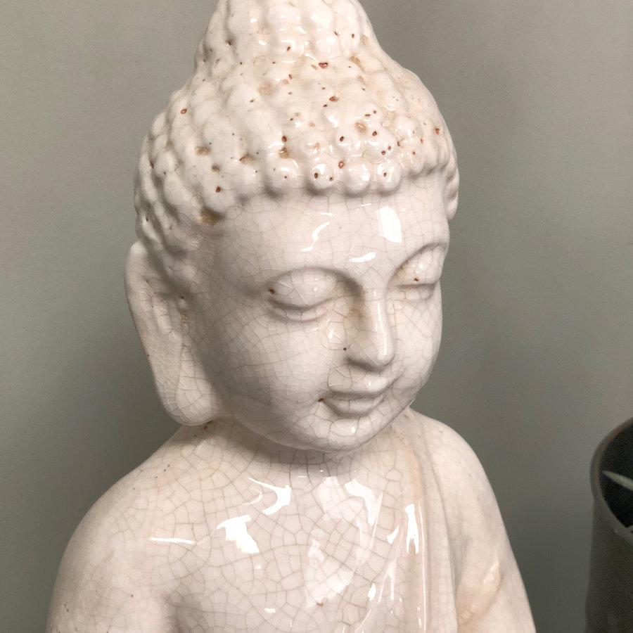 Antiqued Crackle Buddha Ornament at the Farthing 1