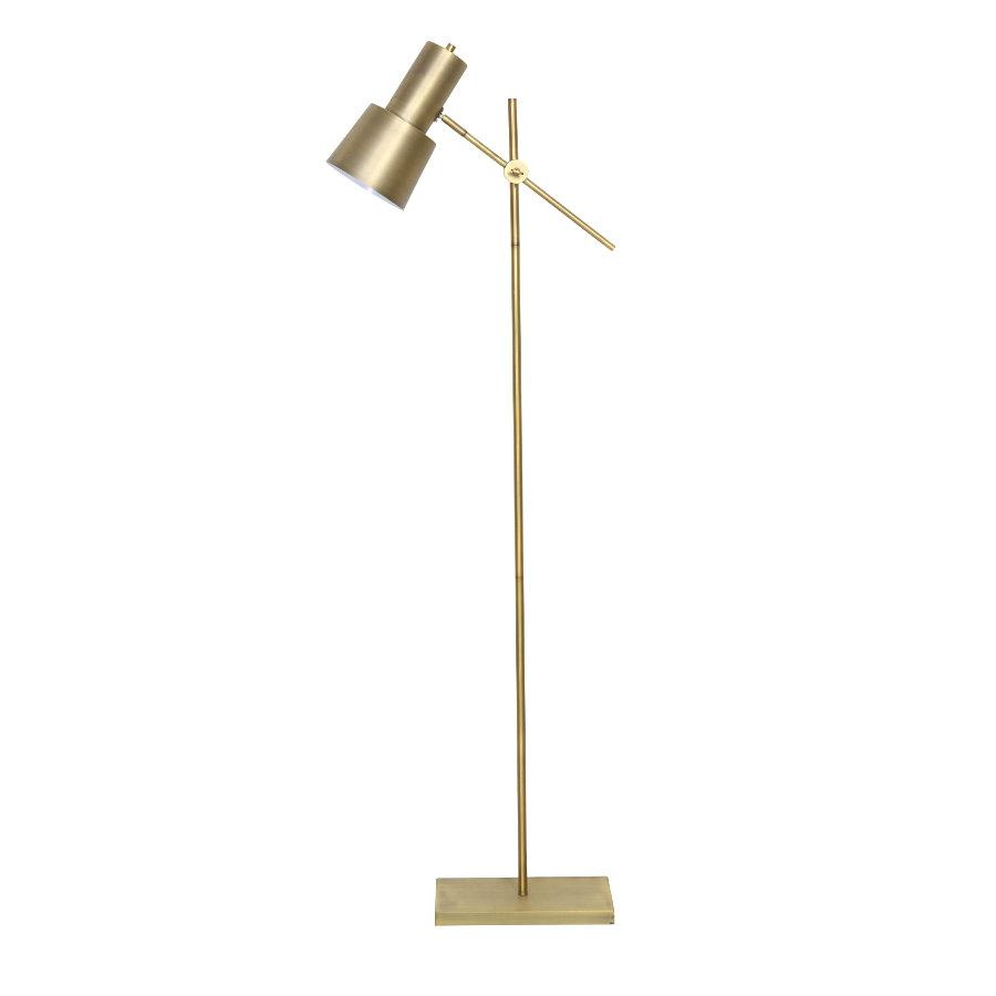 Antiqued Gold Angle Floor Lamp at the Farthing
