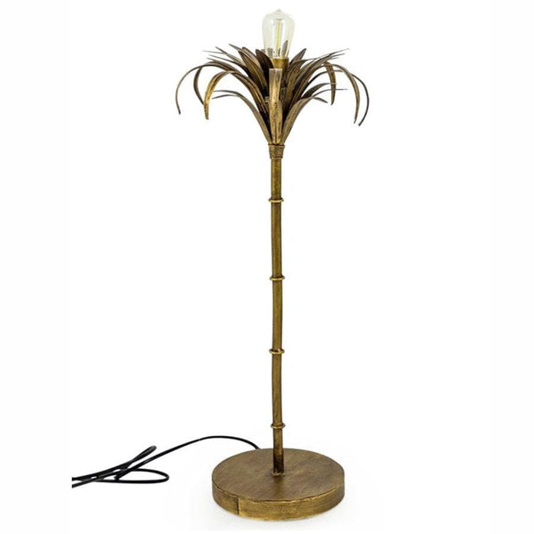 Antiqued Gold Palm Tree Lamp at the Farthing