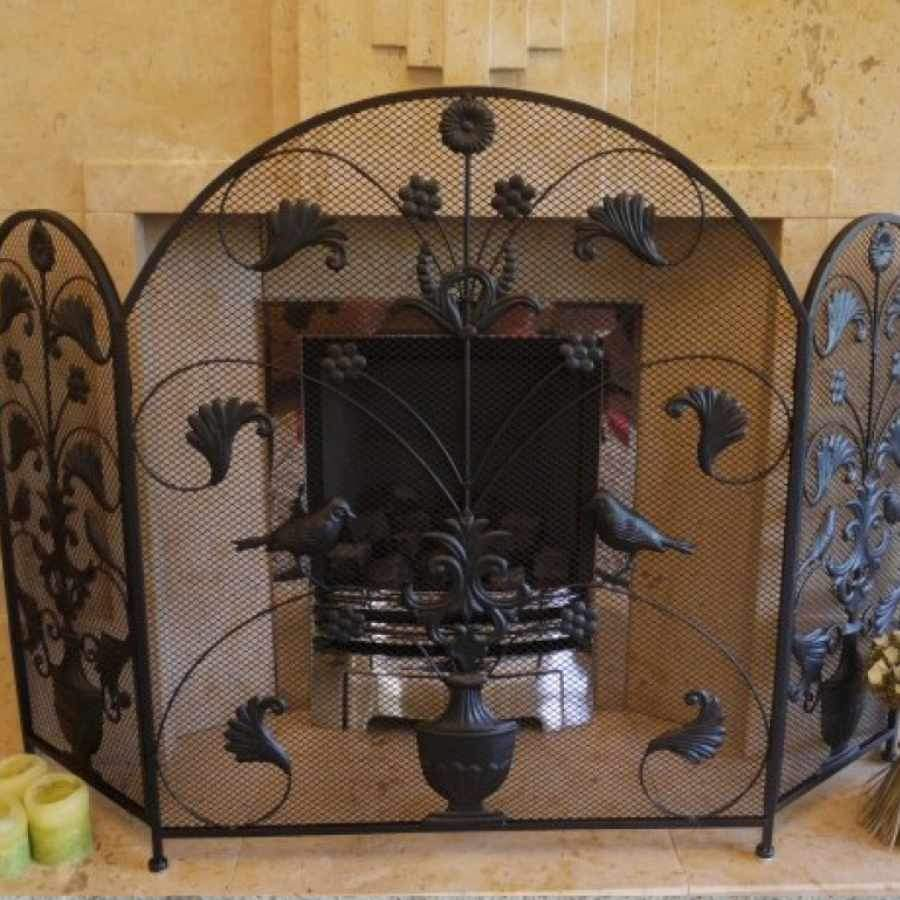 Arched Top Folding Fire Screen Surround