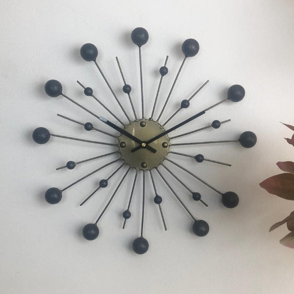 Art Deco Sunburst Wall Clock at the Farthing