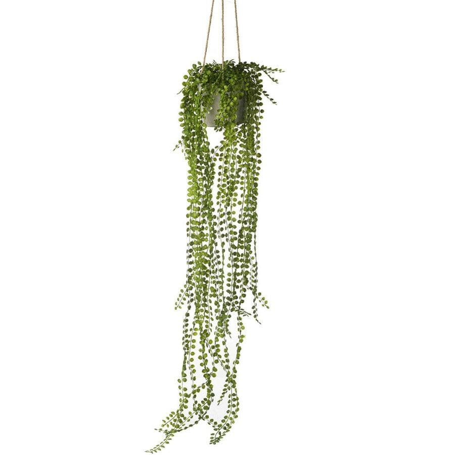 Artificial Potted Hanging Pearl Spray | The Farthing