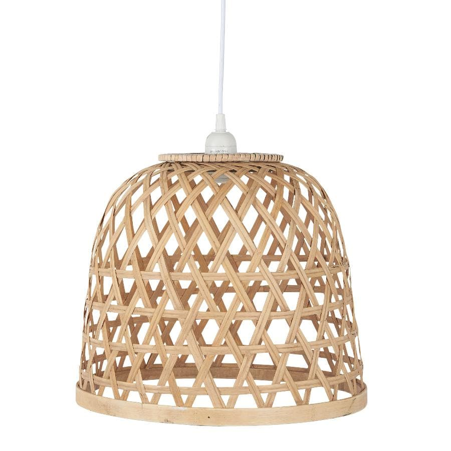 Bamboo Cross Weave Pendant Light at the Farthing