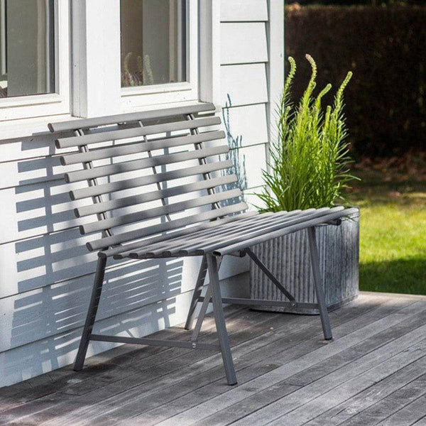 Chic Battersea Bench in Charcoal - The Farthing  - 1