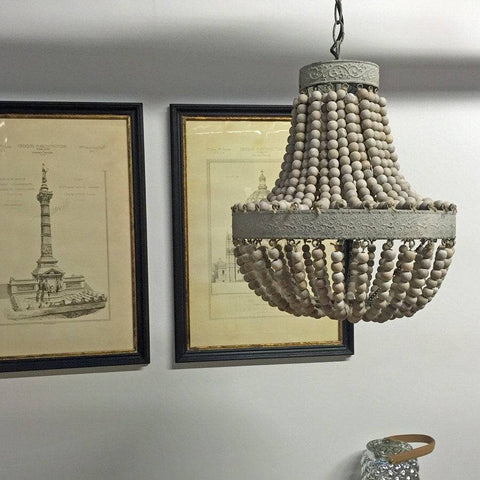 Beaded Vintage Style Pendant Light - The Farthing
