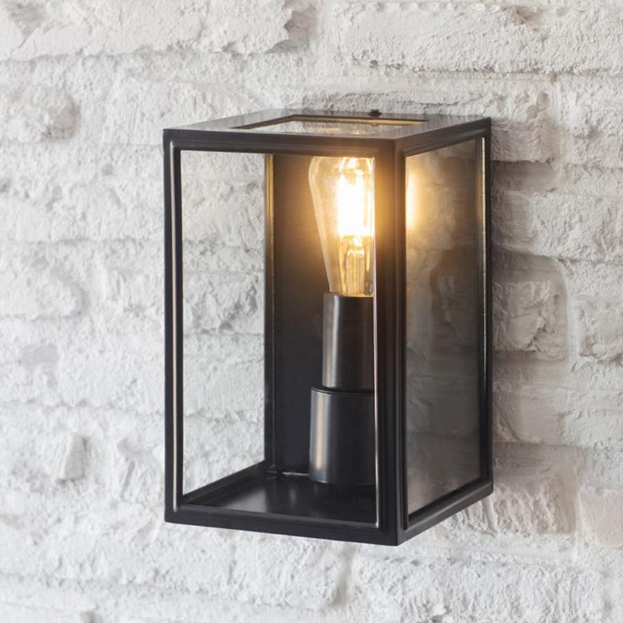 Belgrave Outdoor Lantern in Carbon - Steel | Farthing
