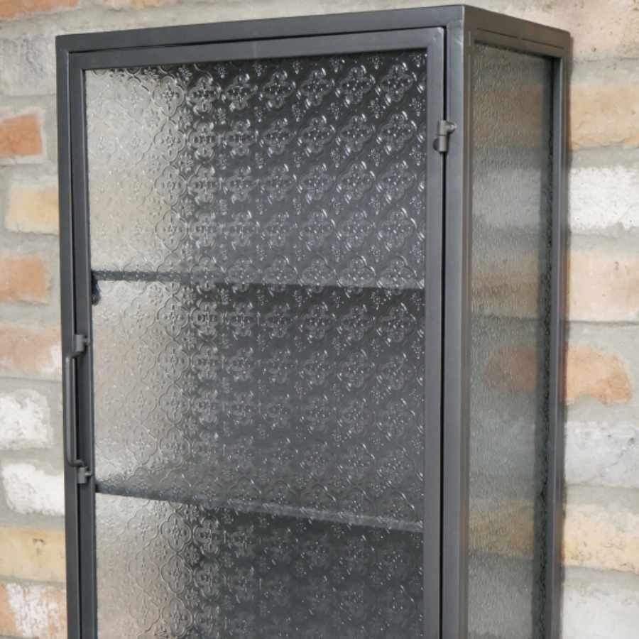 Bilbrook Glass & Metal Storage Wall Cabinet