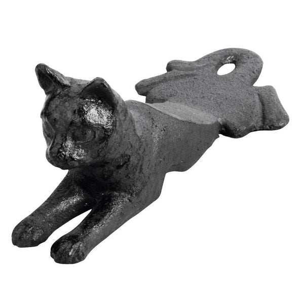 Black Cat Iron Door Wedge at the Farthing