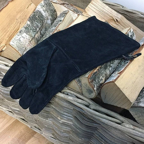 Black Leather Fire Glove - Right Hand - The Farthing  - 1